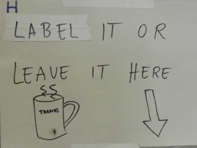 Label it or leave it here