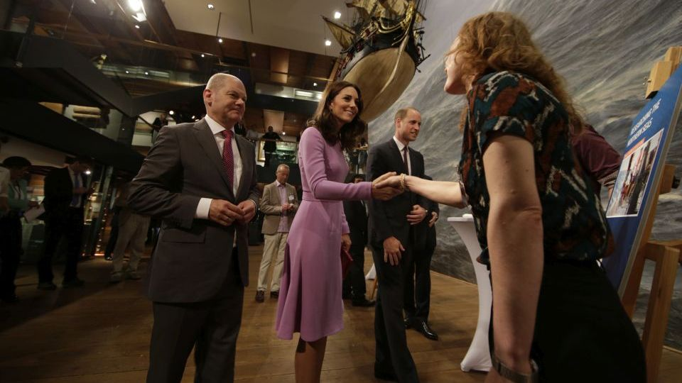 The Duke and the Duchess of Cambridge have met early career scientists at the IMMH. Photo: Roland Magunia / Senatskanzlei Hamburg