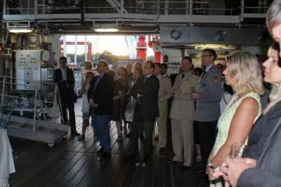 Guests of the reception on board the RV SONNE (Photo: German Embassy).