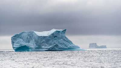 Iceberg in the North Atlantic. Photo: MARUM - Center for Marine Environmental Sciences, University of Bremen; V. Diekamp