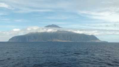 Close to the island of Tristan da Cunha in the South Atlantic, there is apparently a hotspot that has been active for 130 million years. Photo: Wolfram Geißler, AWI