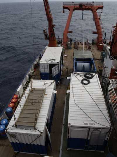 MeBo operational system on deck of the research vessel RV METEOR